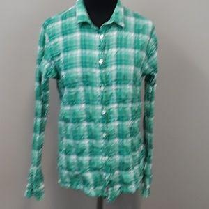 J Crew perfect fit plaid button down women's shirt